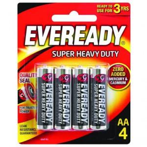 Eveready Super Heavy Duty Aa Batteries