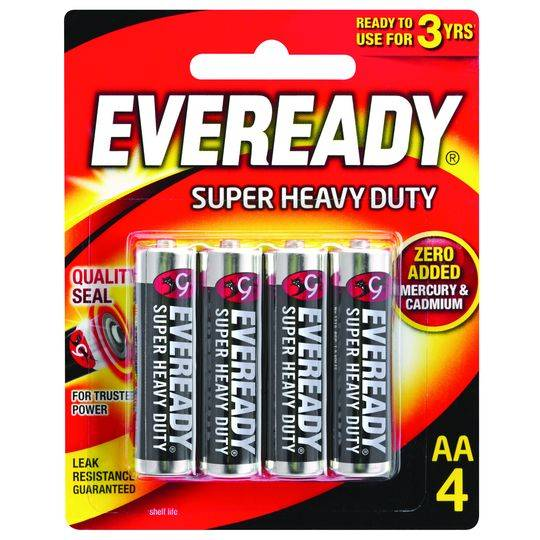 Eveready Super Heavy Duty Aa Batteries