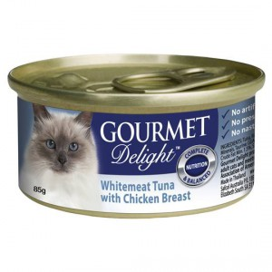 Gourmet Delight Cat Food Whitemeat Tuna With Chicken