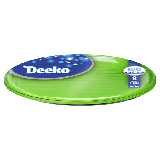 Deeko Entertainer Serving Plastic Steak Plate Oval