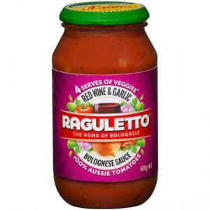 Raguletto Pasta Sauce Red Wine Garlic