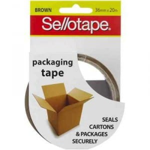 Sellotape Packaging Tape Brown 36mmx20m