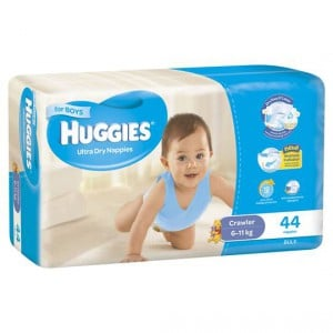 Huggies Ultra Dry Nappies Crawler Boy 6-11kg Bulk