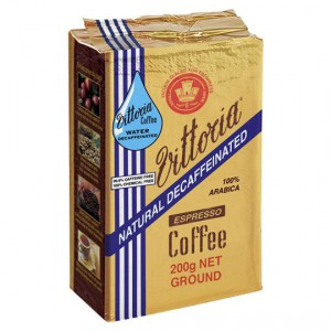 Vittoria Espresso Deccaffeinated Ground Coffee