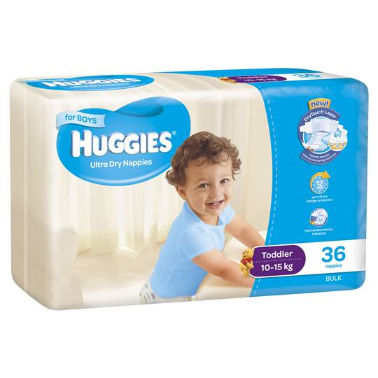 Huggies Ultra Dry Nappies Toddler Boy 10-15kg Bulk