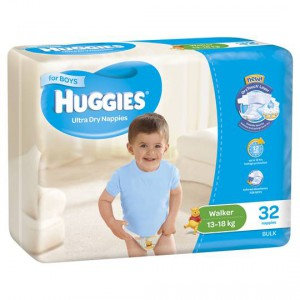 Huggies Ultra Dry Nappies Walker Boy 13-18kg Bulk
