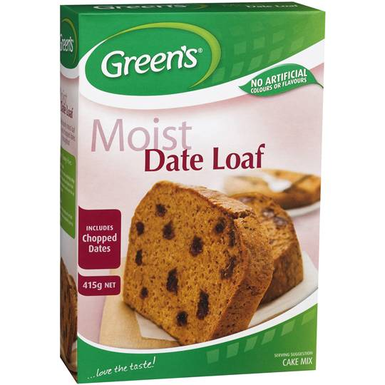 june11 reviewed Greens Cake Mix Traditional Date Loaf