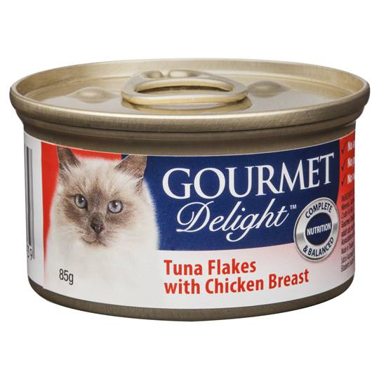 Gourmet Delight Cat Food Tuna Flakes With Chicken