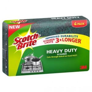 Scotch-brite Heavy Duty Scourer 3x Longer