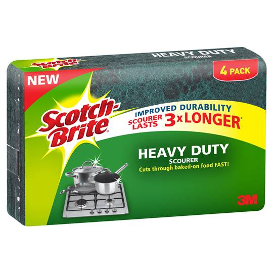 Scotch-brite Heavy Duty Scourer 3x Longer