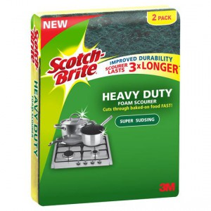 Scotch-brite Heavy Duty Foam Scourer 3x Longer