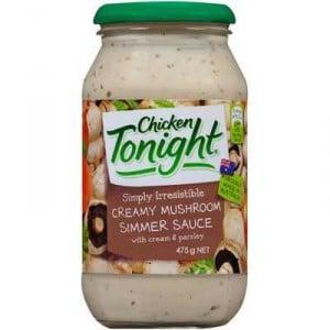 Chicken Tonight Simmer Sauce Creamy Mushroom