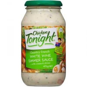 Chicken Tonight Simmer Sauce Country French White Wine