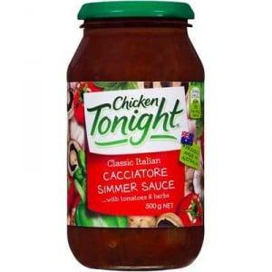Chicken Tonight Simmer Sauce Cacciatore