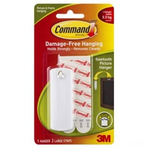 Command Sawtooth Picture Hanger White
