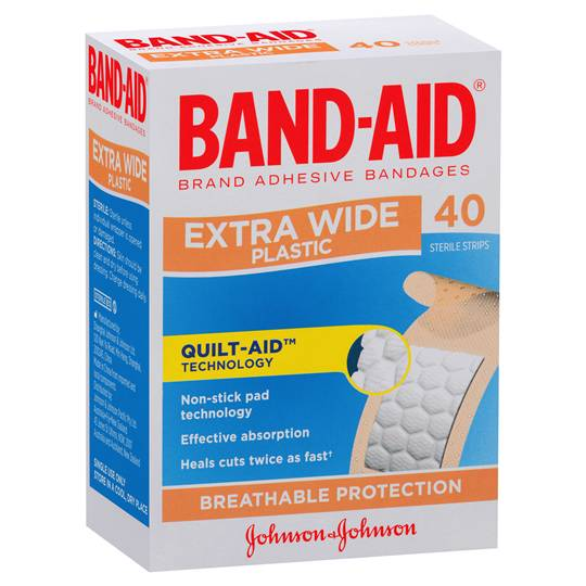 Band-aid Plastic Strips Extra Wide Breathable