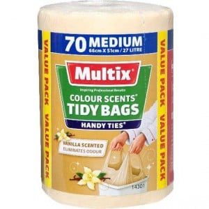 Multix Kitchen Tidy Bags Medium Colour Scents Vanilla