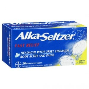 Alca Seltzer Antacids Lemon Tablets