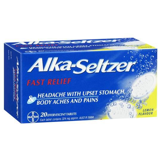 Alca Seltzer Antacids Lemon Tablets