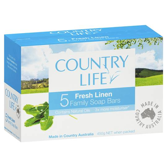 Country Life Soap Bar Fresh Linen