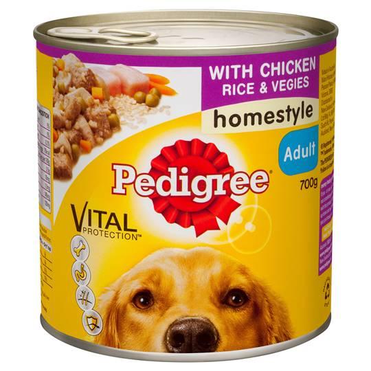 Pedigree Adult Dog Food Homestyle With Chicken Rice & Vegies