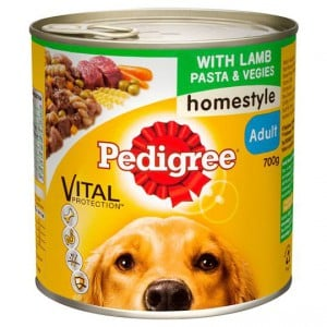 Pedigree Adult Dog Food Can Lamb Pasta & Vegies