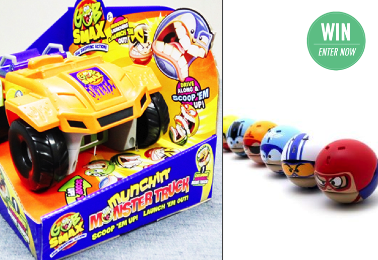 WIN 1 of 9 awesome new Gobsmax Munchin Monster Trucks!