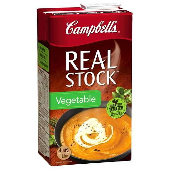 Campbells Real Vegetable Liquid Stock