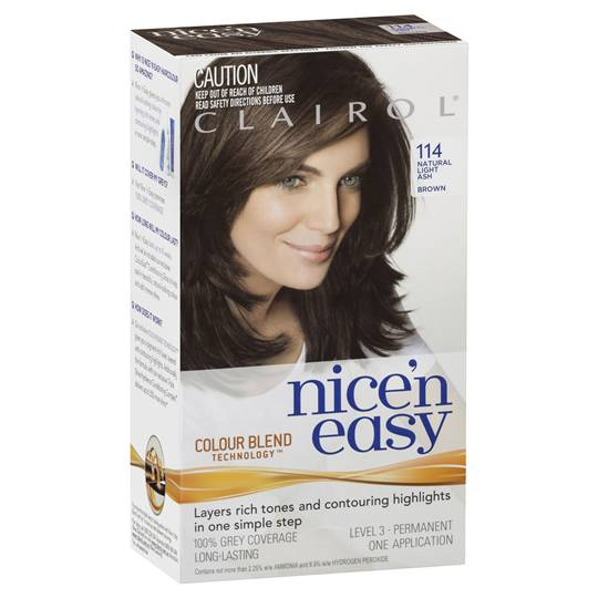 Clairol Nice N Easy 114 Natural Light Ash Brown
