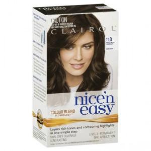 Clairol Nice N Easy 118 Natural Medium Brown
