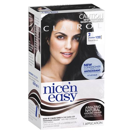Clairol Nice N Easy 122 Natural Black
