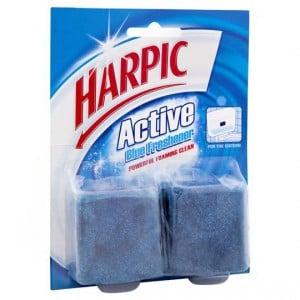 Harpic Blue Toilet Cleaner Block In Cistern