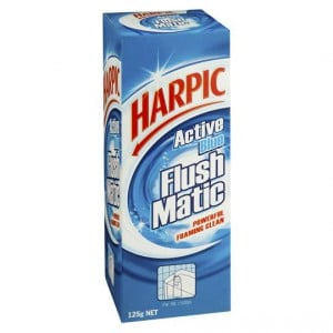 Harpic Flushmatic Blue Toilet Cleaner Block In Cistern