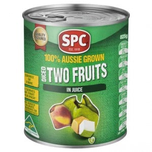 Spc Two Fruits Diced Natural Juice