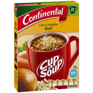 Continental Cup A Soup Instant Soup Beef Lots Of Noodles