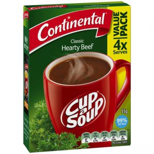 Continental Cup A Soup Instant Soup Hearty Beef