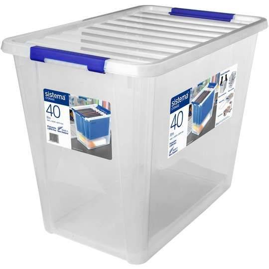 Sistema Storage With Lid 40l