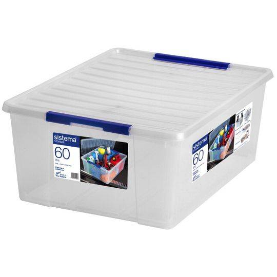 Sistema Storage With Lid 60l