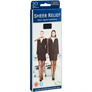 Razzamatazz Sheer Relief Pantyhose Control Support Ink Navy X-tal