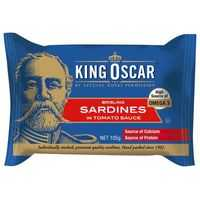 King Oscar Sardines Tomato Sauce Single Layer