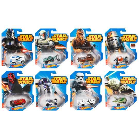 Hot Wheels Star Wars Character Cars Assorted