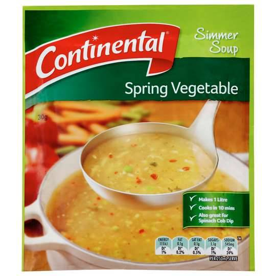 Continental Simmer Soup Spring Vegetable