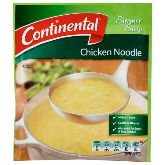 Continental Simmer Soup Chicken Noodle