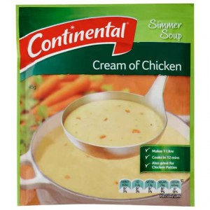 Continental Simmer Soup Cream Of Chicken