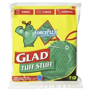 Glad Tuff Stuff Forceflex Drawstring Garbage Bags