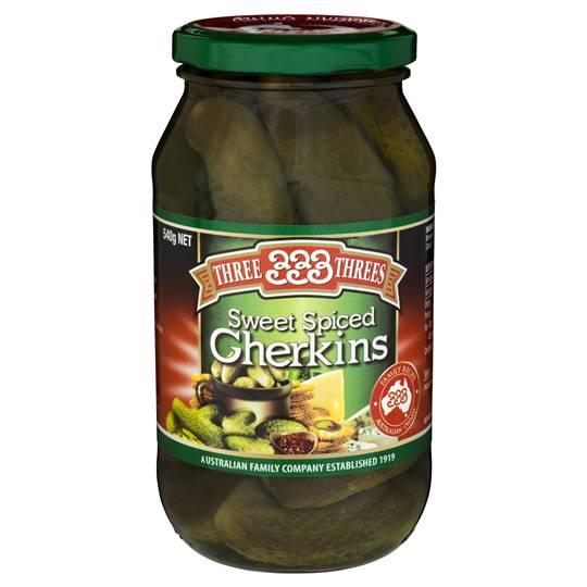 Three Threes Gherkins Sweet Spiced