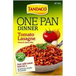 Tandaco One Pan Dinner Pasta Tomato Lasagne
