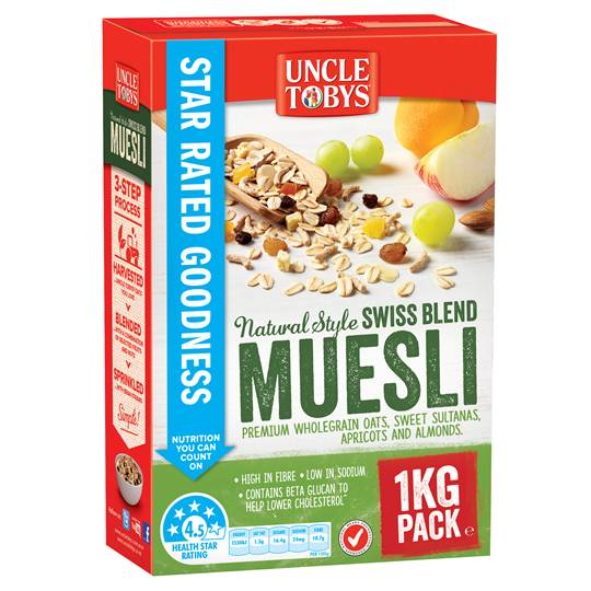 Uncle Tobys Natural Style Swiss Blend Muesli