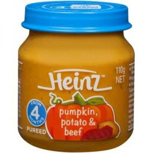 Heinz Strained Food 4 Months Pumpkin Potato & Beef