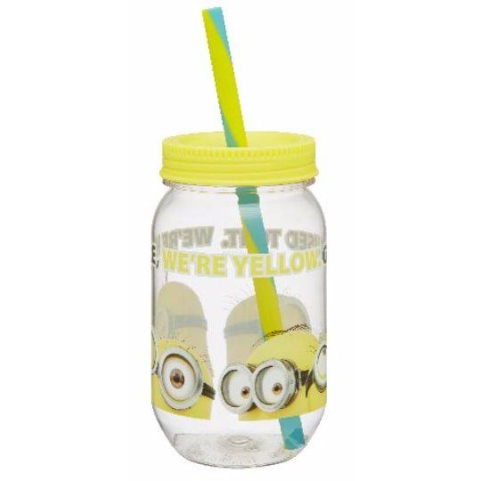 Mini Mason Jar Straw Yellow